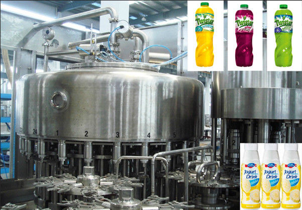 Rotary Multi-Head Bottle Filling Machine Used In  Fruit Juice Production  Line